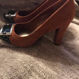 Cato Shoes - Brown and black suede heels
